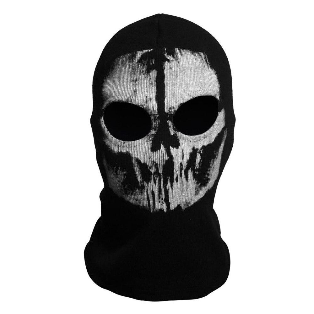 Biker Skateboard Balaclava Ghost Elias Skull Face Mask Mens Black ...