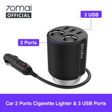Xiaomi 70mai Car Cigarette Lighter Socket Splitter USB Car Auto Power Adapter 70 mai Car Charger Car Plug splitter usb charger(China)