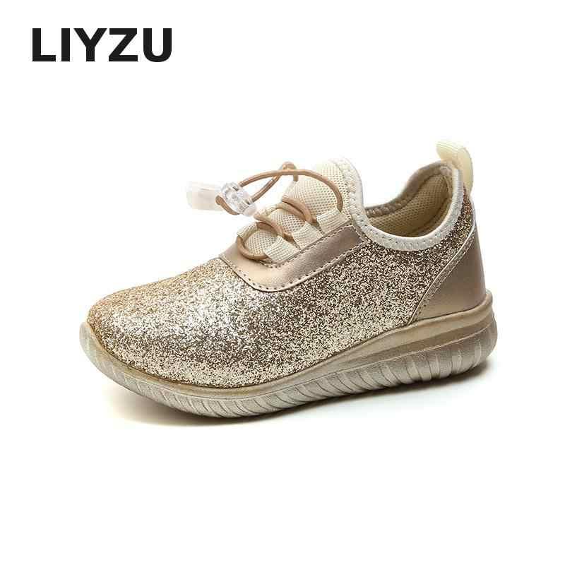 รองเท้าเด็กสำหรับ Girls Glitter เด็กรองเท้าผ้าใบ Sequined รองเท้าเจ้าหญิงเด็กวัยหัดเดิน Trainer Breathable กีฬารองเท้า