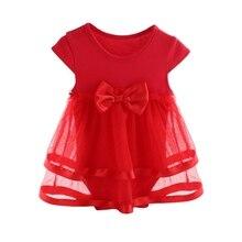 Summer Cotton Newborn Baby Dress Bow Baby
