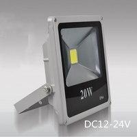 Low voltage LED Flood Light 20W Projection lamp IP66 12V 24V DC Battery Floodlight lighting