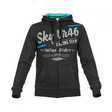 2017 New Gray Valentino Rossi Sky VR46 italian Riders Crew Fleece motorcycle hoodie Sports Sweatshirt Hoody Zipper Sweater