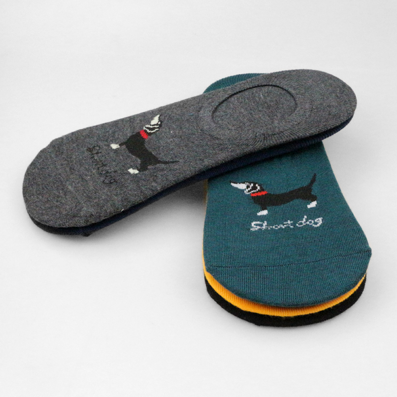2018 Buldog Socks Women Cotton Pug Short Ankle Socks Shiba Inu Unisex Men Sausage Dog Beagle Invisible Animal Teckel Slip Socks