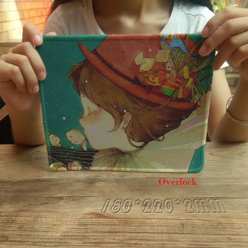 New Arrival Cloth Rubber Large Gaming Mousepad Art Drawing Painting Sketch Style Mousemat Overlock Computer Mice Play Mat