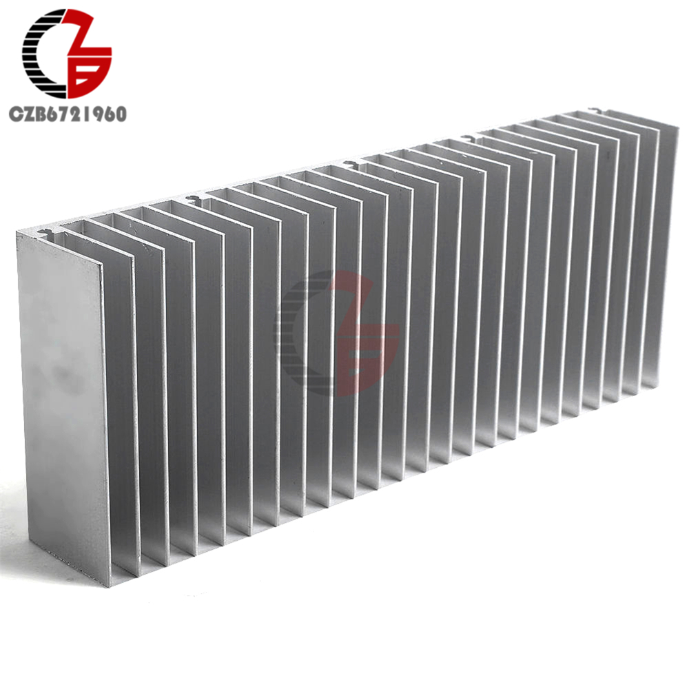 Алюминиевый радиатор радиатора 60x150x25 мм, рассеивание тепла охлаждение для усилителей, светодиодный светильник COB, силовой транзистор IC