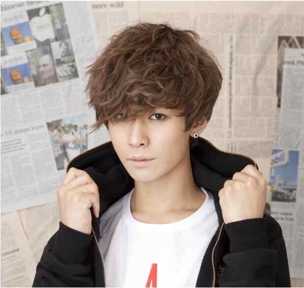 Парик красивый парик для мальчиков корейская мода короткие мужские волосы Косплей парики Бесплатная доставка