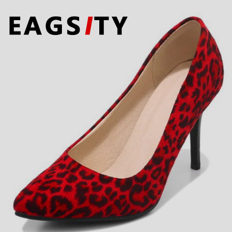 c74e43e566fe Suede Leopard print pumps Sex high heel shoes women stiletto heels pointed  toe party ladies dress shoes red -in Women's Pumps from Shoes on  Aliexpress.com ...