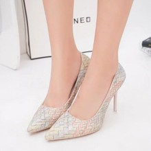 цены SPRING and autumn new high heels banquet boutique with high heels pointed shallow mouth trend women's sexy wedding shoes