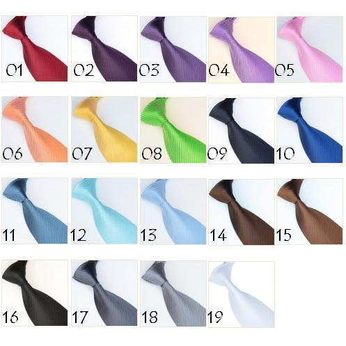 2018 mens ties solid color high quality neckties Neck tie 19 colors mens ties