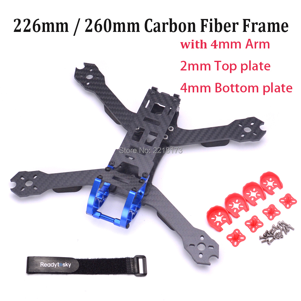 DIY 5 inch 226 226mm / 6 inch 260 260mm with 4mm Arm Quadcopter frame Carbon fiber for FPV Racing Drone Better than Rooster 230 high quality fpv racing 6 inch propellers prop protectors guard for 250 quadcopter page 4 href
