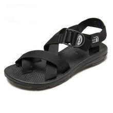2017 Summer Vietnam hombres Sandalias de Playa Cinturón de Nylon Cruz Inferior De Goma Casual Playa Del Dedo Del Pie Zapatos de Los Hombres de la Marca Tamaño 38-44