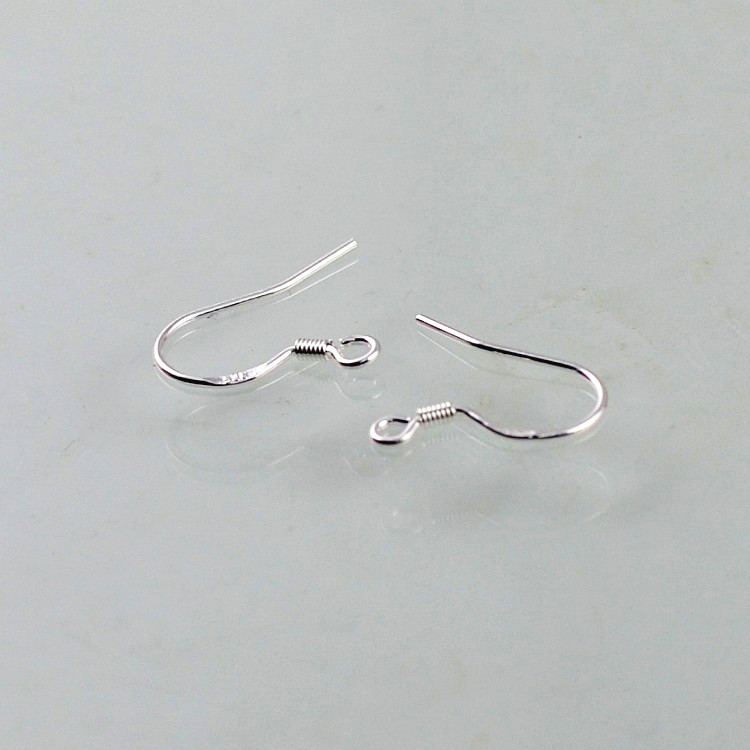 200pcs/lot Silver Plated Findings Earring Hooks Clasp Accessories For Jewelry Making Jewellery Parts Earwire