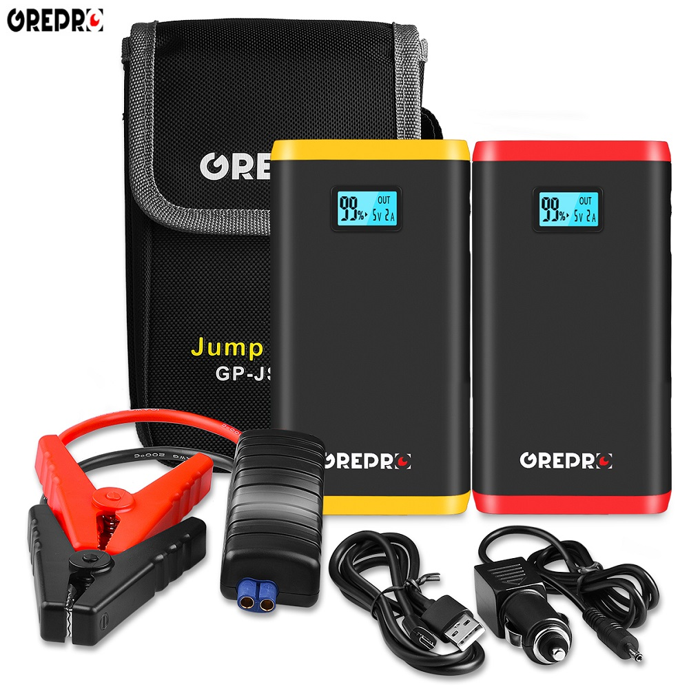 9000mAh Car Jump Starter 500A Vehicle Emergency Battery Car 12V External Car Battery Booster Starter Multi-function Power Bank(China)