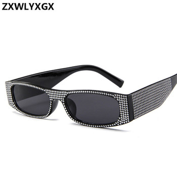ZXWLYXGX Small square fashion sunglasses Retro evening glasses cross-border hot sunglasses women brand designer blue sea UV400
