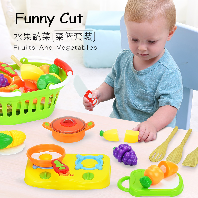 Kitchen Cutting Toy Fruit Vegetable Early Education Toys for Baby Kids Plastic Kitchen Toys Cook Cosplay Children Gift