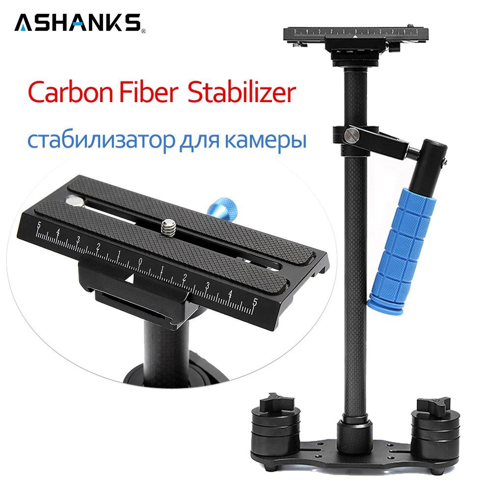 ASHANKS Dslr Steadicam 24/60cm S60C Carbon Fiber Handheld Stabilizer for DSLR Video Camera and DV Camcorder Steadycam