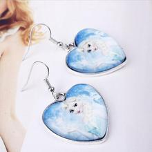 Vintage Silver Heart Drop Earrings For Women Hanging Dangle Earrings Statement Earrings Girls Newest Fashion Jewelry