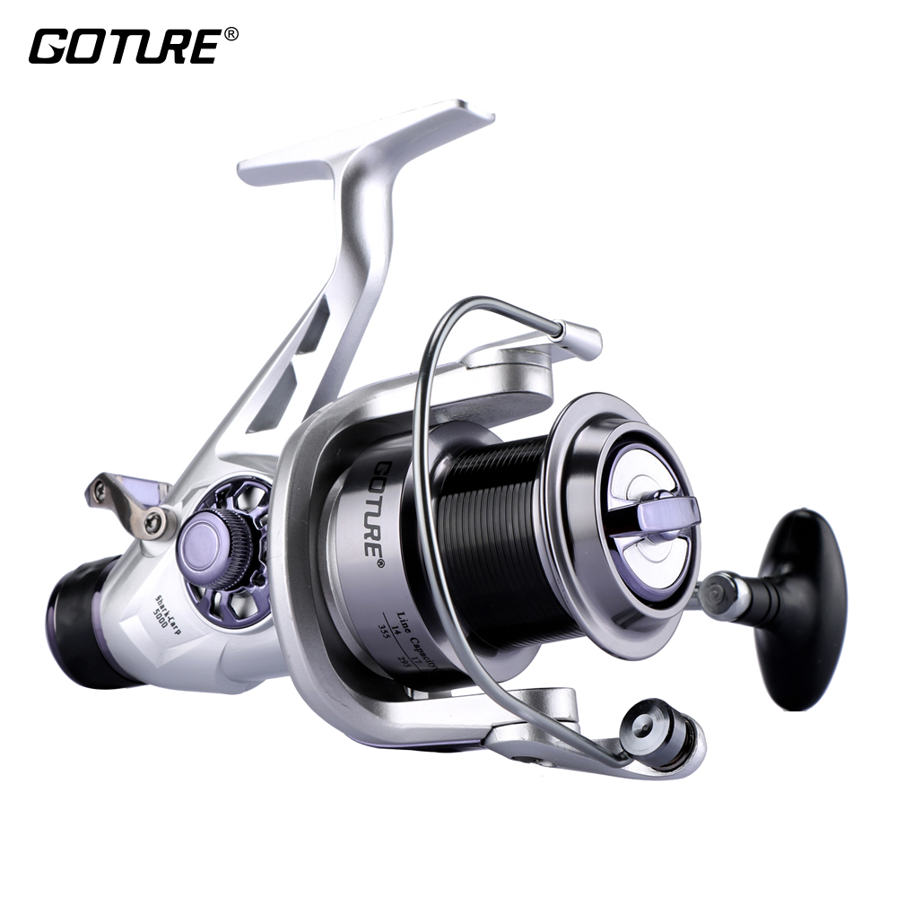 Goture Fishing Reel Double Brake Carp Fishing Feeder 6 1BB Spinning Reel 5 2 1 Quality