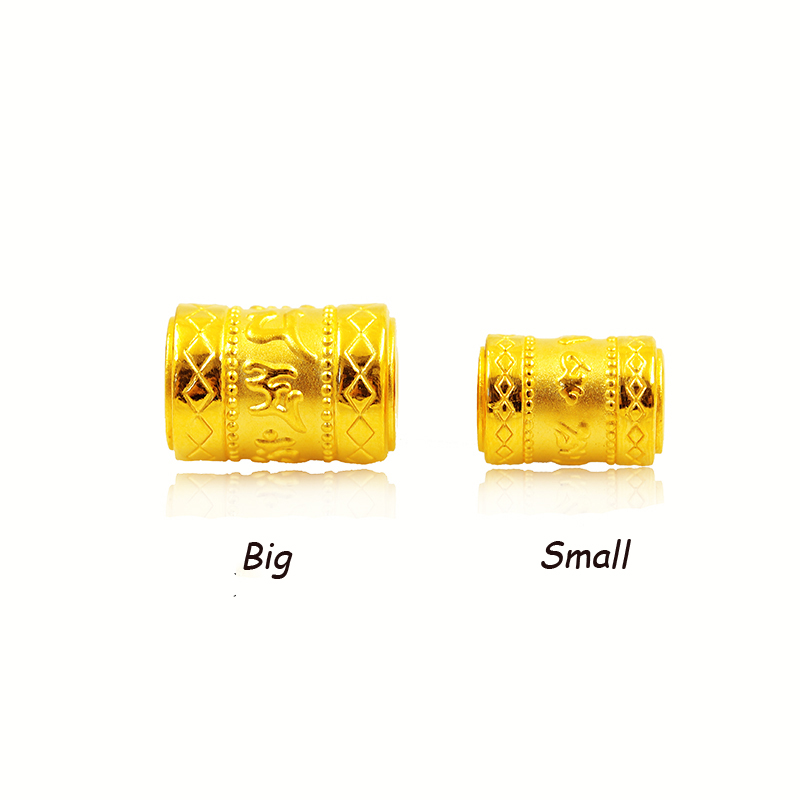 1PCS Pure 999 24k Yellow Gold Pendant 3D Luck Six-word Mantra For Women Bead Men Lady Universary 1-1.5g1PCS Pure 999 24k Yellow Gold Pendant 3D Luck Six-word Mantra For Women Bead Men Lady Universary 1-1.5g