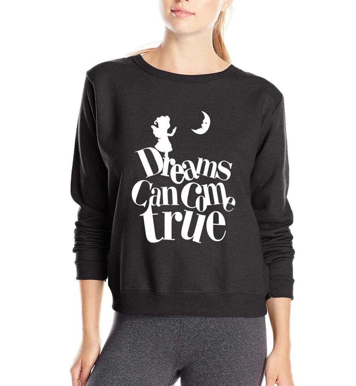 Dreams Can Come True letters print women sweatshirt 2019 spring new style fashion harajuku hoodies fleece kawaii tracksuit S-2XL