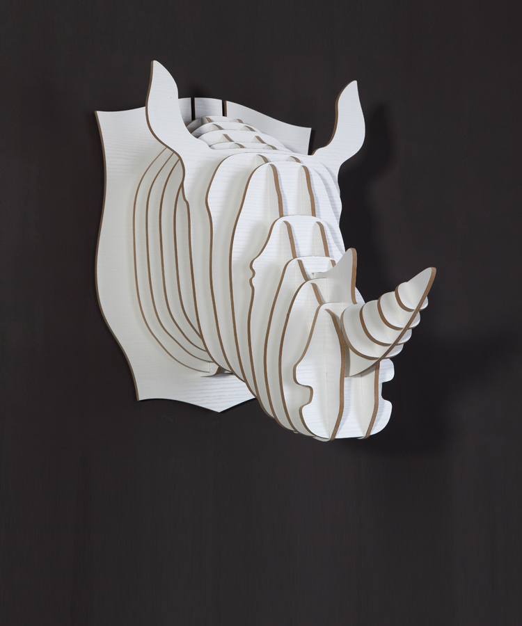 nodic diy craft for home decorationrhino head ornamentwooden animal head for wall - Animal Head Wall Decor