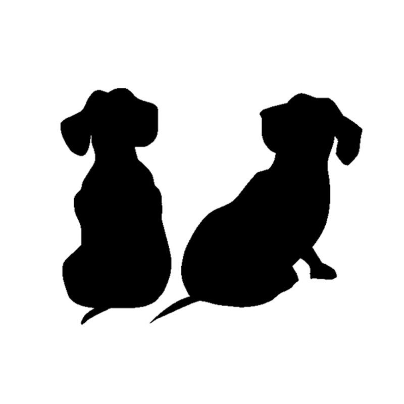 Dachshund Puppies Dog Decals Vinyl Sticker For Car SUV
