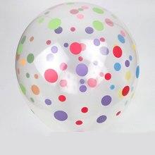 Горячие 20 шт./лот 2,8 г 12 дюймов прозрачные точечные латексные воздушные шары для свадьбы вечеринки предметы для украшения дня рождения globos