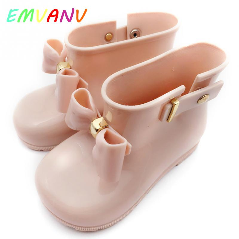 Free Shipping Durable Waterproof Child Infant Girl Rubber Rain Boots Jelly Soft Shoes For Cute Baby Boys And Girls