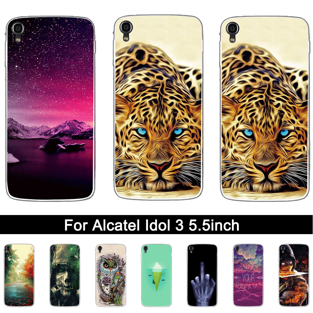 Soft Silicon Case For Alcatel One Touch Idol 3 5 5 Inches Lxuruy 3d Printing Protective Tpu Coque For Alcatel Idol 3 Case 5 5 Case For Alcatel Silicone Casecase For Aliexpress