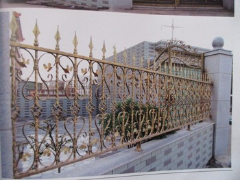 72 Inch High RPF102 Residential Wrought Iron Fence dcorative wrought iron fence Steel and other Metal Fences