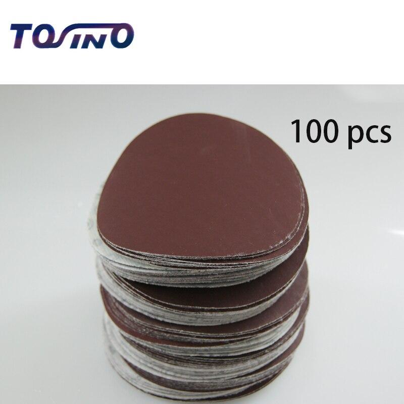 Бесплатная Доставка 100 шт. 100 мм наждачная бумага абразивный шлифовальной бумаги электроинструментов аксессуары Гриц 60 до 2000