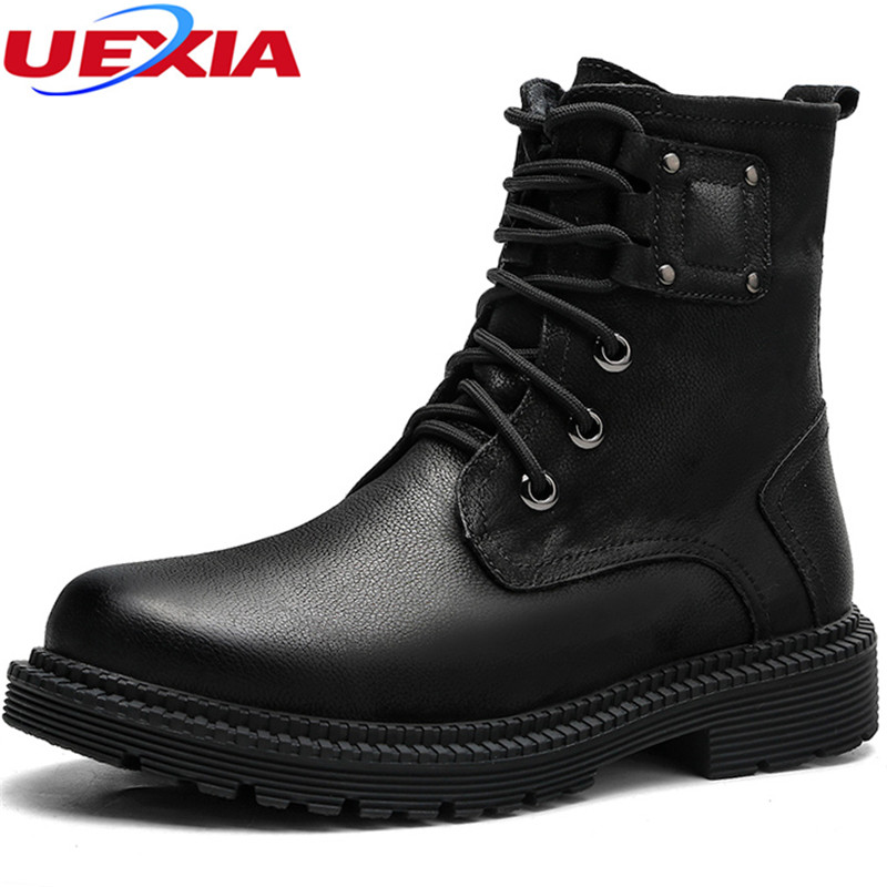 UEXIA Winter Outdoor Military Combat Men Boots Leather Desert Work Safety Shoes Tactical Ankle Men's Army Botas Tacticos Zapatos книга по обучению 3d рисованию 30 трафаретов feizerg а4 st 30