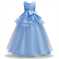 Kid Girl Wedding Flower Girls Dress High End Princess Party Pageant Formal Dress Sleeveless Prom Wedding
