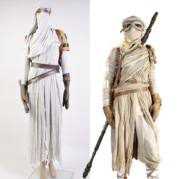 Star Wars VII The Force Awakens Costume Cosplat Full Set Uniform Rey Cosplay Costume Halloween Carnival Rey Costume Full Set