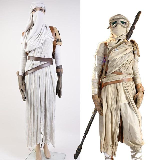 Star Wars VII The Force Awakens Costume Cosplat Full Set Uniform Rey Cosplay Costume Halloween Carnival Rey Costume Full Set