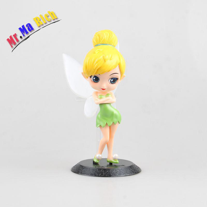 Q Posket Characters Tinker Bell Peter Pan Figure Toy Gift For Girl