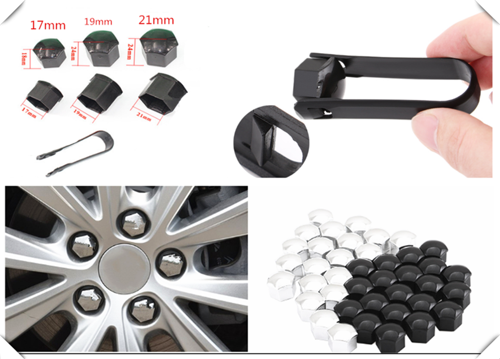 20Pcs <font><b>car</b></font> <font><b>wheel</b></font> <font><b>nut</b></font> <font><b>cap</b></font> screw housing decoration 17mm 19mm 21mm for VW Volkwangen MK7 Golf 7 Skoda Octavia A7 image