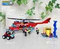 GUDI Fire - Fighting Aircraft Assembled Plastic Building Blocks Toy