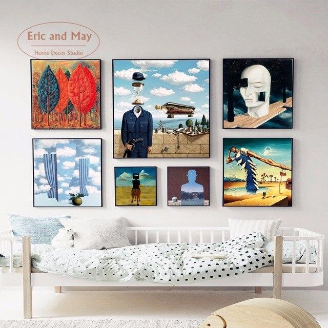 Decoratie Aan De Muur.Moderne Surreal Art Canvaskunst Schilderen Poster Abstracte Muur