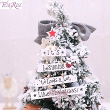 FENGRISE Merry Christmas Tree Decoration Ornament for Home Xmas Hanging Pendant Navidad 2019