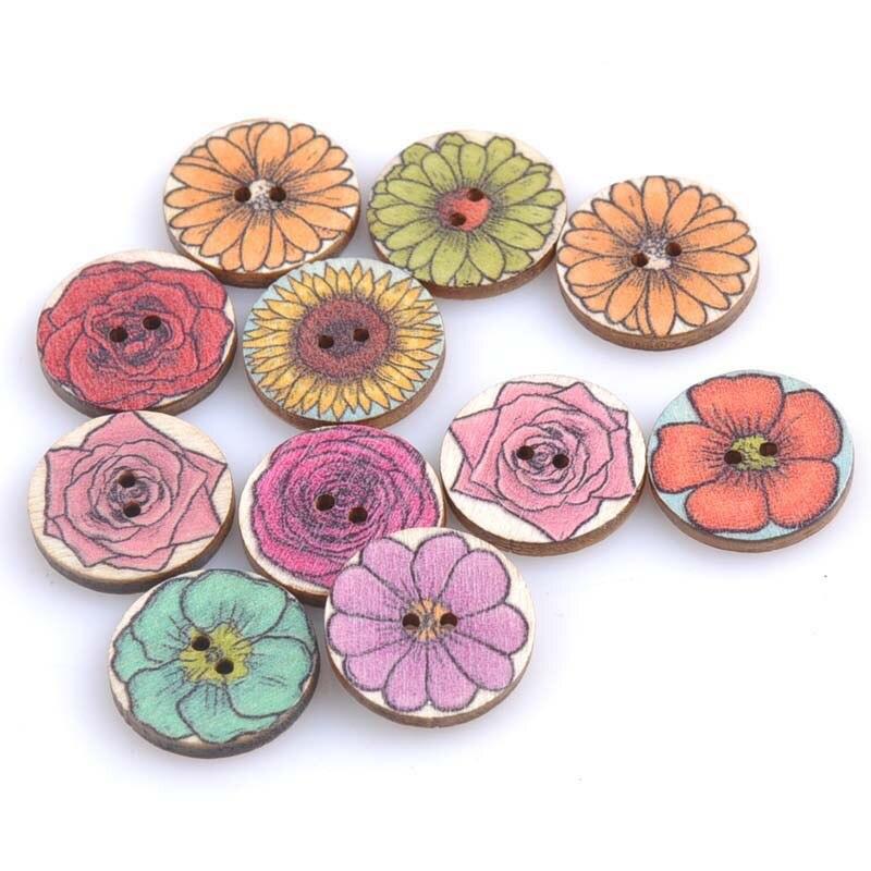 20 шт./лот ручная работа деревянные пуговицы окрашенные Швейные аксессуары популярные швейные изделия - Цвет: 8