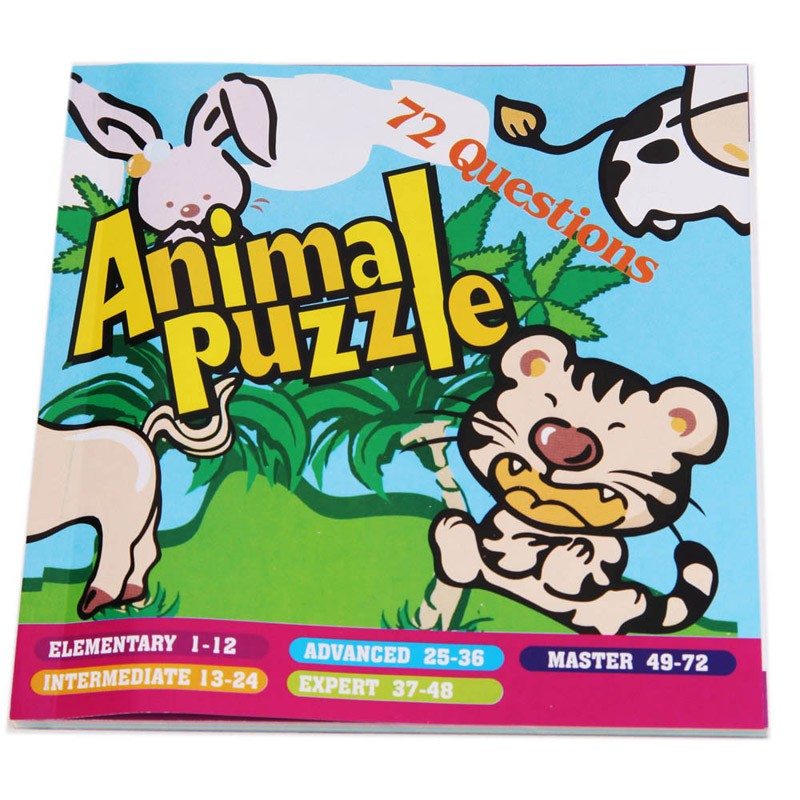 Quality New Kids Animal Maze Puzzle IQ Mind Logic Brain Teaser Puzzles Game Toys for Children 72 Questions 13