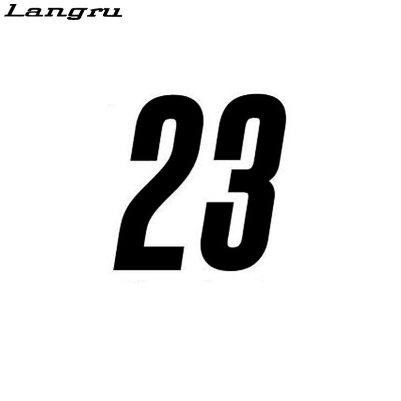 Langru Personality Racing Numbers 23 Vinyl Car Sticker Decal Graphical Jdm(China)