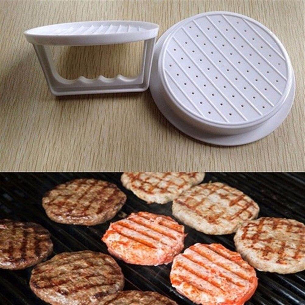 Plastic Patty Press Form Hamburger Mold Maker Round Meat Mince BBQ Family party DIY Hamburgers Tool Hot Sale