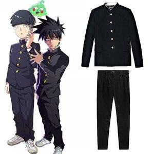 Image 1 - อะนิเมะMob Psycho 100ชุดคอสเพลย์Kageyama ShigeoสีดำกางเกงUnisex GakuranชุดMobu Saiko Hyaku