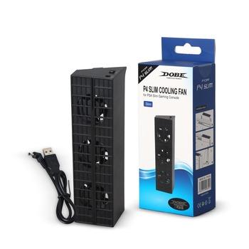 JRGK PS4 Slim wentylator konsola chłodnicy chłodnica inteligentny termostat 3 wentylatory System stacji dla Sony Playstation 4 PS4 Slim tanie i dobre opinie PLAYSTATION4 TP4-819 Black