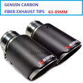 2PCS Inlet Diameter: 63mm Outlet Diameter: 89mm AK Style Dry Carbon Fiber Akrapovic Exhaust Muffler Tip Universal