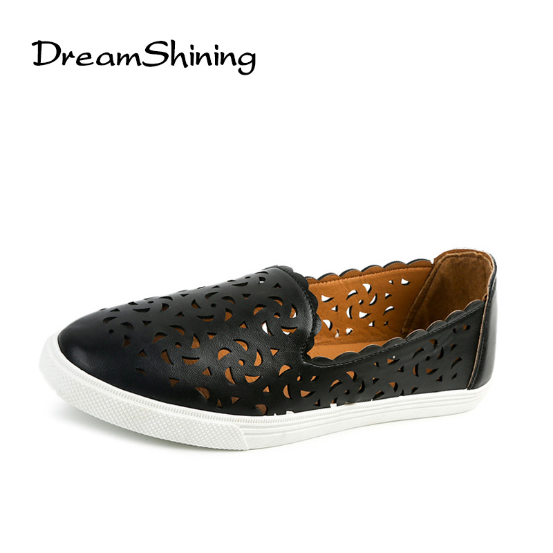 DreamShining Women's Shoes PU Leather Solid Loafers Women Flats Ballet Spring Summer Flat Shoes Woman Moccasins Size 35-40 dreamshining new fashion women colorful flat shoes women s flats womens high quality lazy shoes spring summer shoes size eu35 40