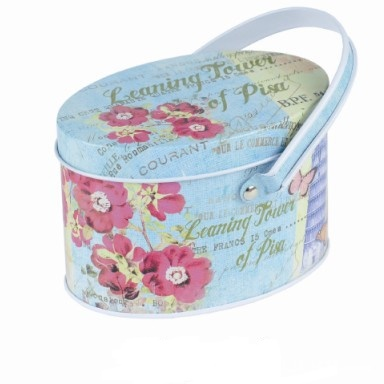 Top Selling! Candy Storage Box jewelry tin box Sundries Multi-use Case with Carrying Ring