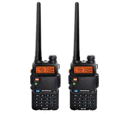 2pieces BAOFENG UV-5R 5W Walkie Talkie 136-174/400-520Mhz Dual Band UHF/VHF Portable Ham Two Way Radio 128CH UV5R